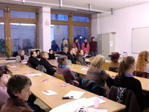 Foto Präsentation Hochschulsekretärinneninitiative BS